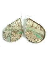 Boho Earrings, Statement Earrings, Paper Earrings, Decoupage Earrings, R... - $28.00