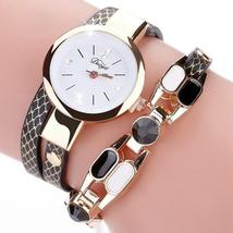 DUOYA DY106 Fashionable Women Bracelet Watch Vintage Leather Strap Quart... - $10.61 CAD