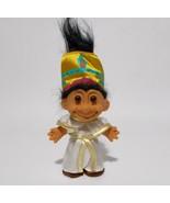 "Nefertiti Troll Doll Black Hair Egyptian Queen Luxor Hotel Russ Rare 5"" ... - $54.44"