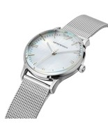 Emporio Armani AR1631 Women's Classic Silver Dial Stainless Steel Case Watch - $116.91
