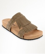 Women's Minnetonka Daisy Slide,  Sandal Taupe Suede size 5 - $36.62