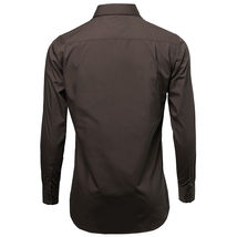 NEW Omega Italy Men's Dress Shirt Long Sleeve Solid Color Regular Fit 10 Colors image 4