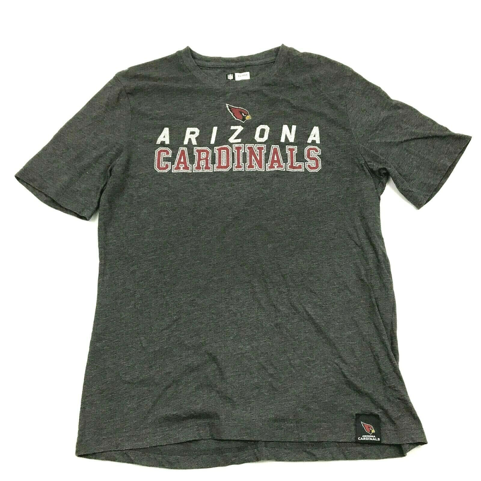 Primary image for NFL Team Apparel Arizona Cardinals Shirt Size Large Athletic Fit Gray Graphic