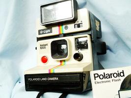 Polaroid 1000 Rainbow Classic Instant Camera c/w Flash - RARE Nice Set-  - $50.00