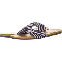 Havaianas H469 Slip On Slide Sandals 383, Navy Multi, 6 US - $20.15