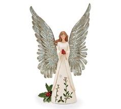 CARDINAL HOLLY ANGEL FIGURINE Product #: 9742558 - $35.00