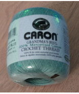 Caron Grandmas Best Crochet Thread Light Blue Mercerized Cotton - $3.98