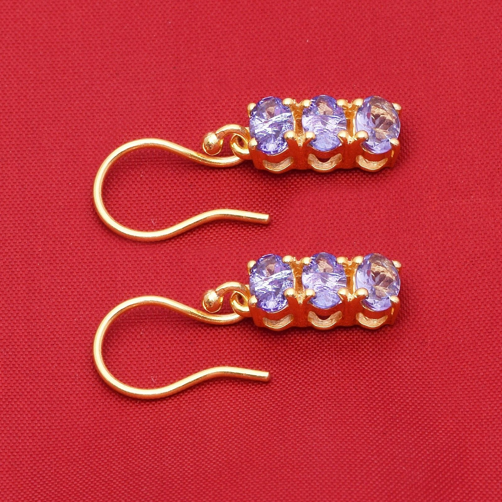 Wonderful Tanzanite Quartz 925 Sterling Silver Earring Shine Jewelry SHER0795