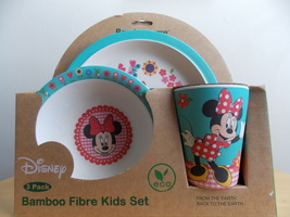 Disney Minnie Mouse 3pc. Bamboo Fibre Dinner Set  - $30.00