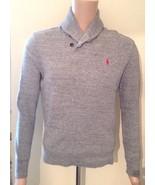 Ralph Lauren Herren gerippt hellgrau Schalkragen Pullover Größe extra kl... - $98.38