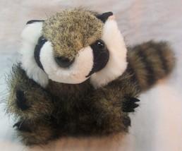 "Folkmanis Raccoon Finger Puppet 7"" Plush Stuffed Animal Toy - $14.85"