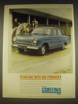 1963 Ford Consul Cortina Ad - Yearling with big promise - $14.99