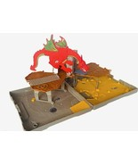 Matchbox Dragon Castle Playset vtg case pop up folding Mattel Shield Go ... - $34.60