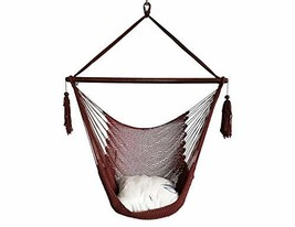 BHORMS Mayan Hammock Chair Cotton Rope Hanging Chair Swing Seat for Outd... - $77.14