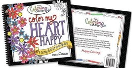 """The Coloring Cafe """"Color My Heart Happy"""" COLORING BOOK (RADA-2501)"""