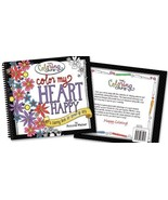 """The Coloring Cafe """"Color My Heart Happy"""" COLORING BOOK (RADA-2501) - $9.40"""