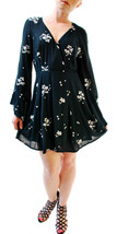 Free People Women's Jasmine Embroidered Mini Dress Deep Forest Size 4 BCF65 - $86.54