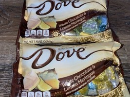 Dove ~ White Chocolate Lemon Meringue Candy 7.4 oz, 12/2021 ~ 2 Bags - $23.36