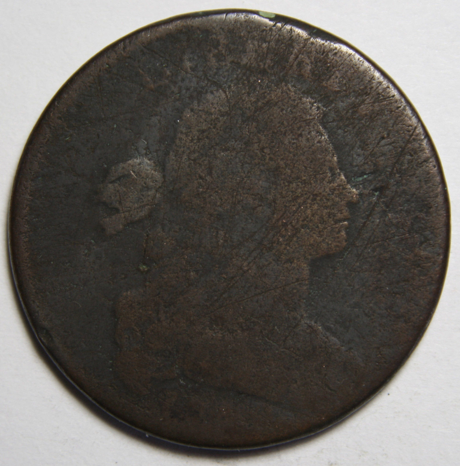 1798 Sheldon 166 Draped Bust Large Cent Coin Lot# MZ 4079