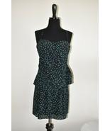 New NWT Forever 21 Black Turquoise Polka Dot Knee Length Dress Size M Me... - $15.24