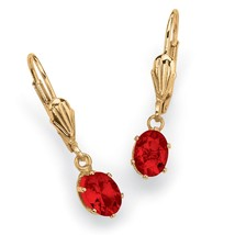 Birthstone Yellow Gold Tone Drop Earrings - $18.82