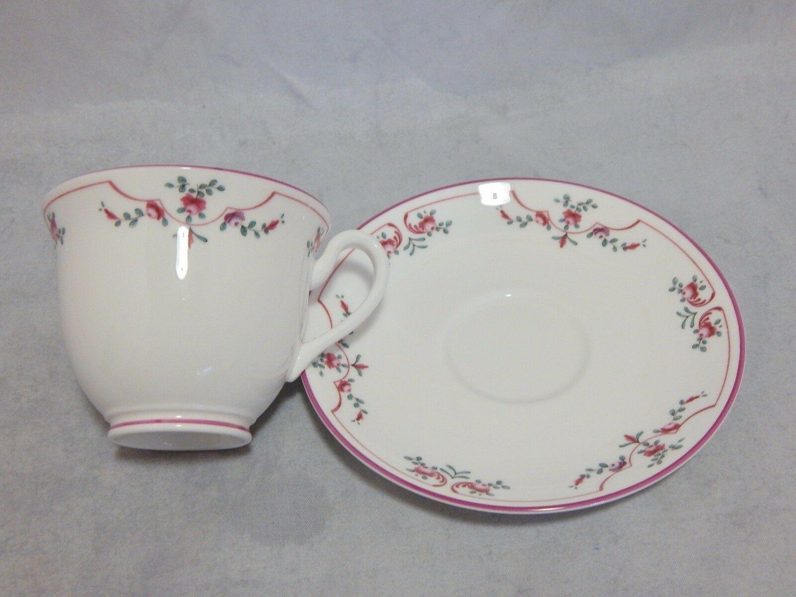 Royal Worcester Pink Petite Fleur Cup and Saucer Set
