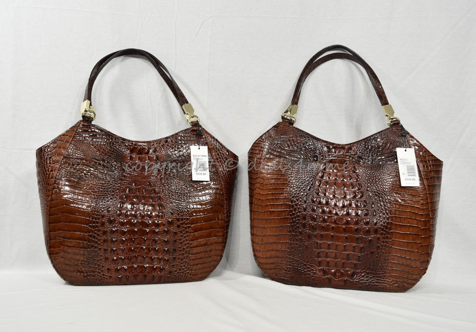 NWT Brahmin Thelma Tote / Shoulder Bag/Tote in Pecan Melbourne Embossed Leather image 10