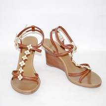 Louis Vuitton High Wedge Heel Sandals Platform Pumps Ankle Strap Shoes US 10.5 - $354.99