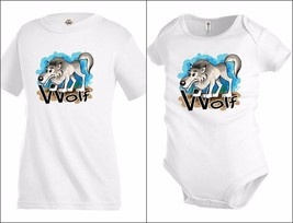 Wolf animal Funny Graphic Kids T shirt Youth tee Baby Toddler bodysuit KP28 - $12.99