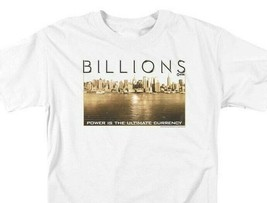 Billions T-shirt Golden City TV show graphic printed cotton white tee SHO580 image 1
