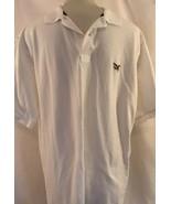 American Living White Golf Shirt Eagle Logo Sz XLARGE - $12.34