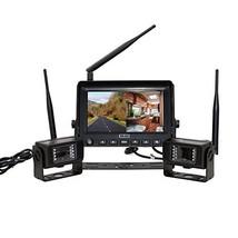 Veise 7 inch Digital Wireless Camera Monitor System, 2 Rear View Waterpr... - $366.26
