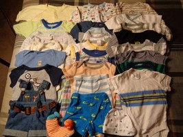 Lot of 24 pieces, boys 0-3 months clothing outfits. - $47.52