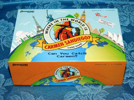 Where in the World is Carmen Sandiego Card Game 2017 Can you catch her Complete - $12.64