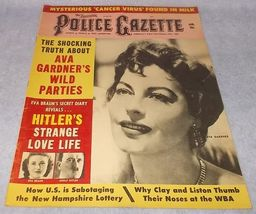 National Police Gazette Tabloid Magazine January 1965 Ava Gardner Clay a... - $19.95