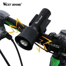 WEST BIKING 4-sounds Bicycle Bell Light Electronic Siren Horn Bell Ring ... - €22,36 EUR