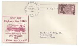 First Trip Highway Post Office 1948 Los Angeles - Laguna Beach Trip 1 HP... - $2.99