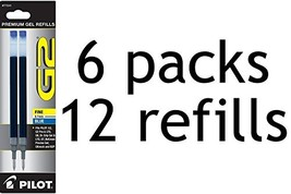 Value Pack of 6 - Pilot G2 Gel Ink Refill, 2-Pack for Rolling Ball Pens,... - $13.58