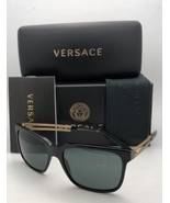 New VERSACE Sunglasses VE 4307 GB1/87 58-17 Black & Gold Frames with Gre... - $320.76