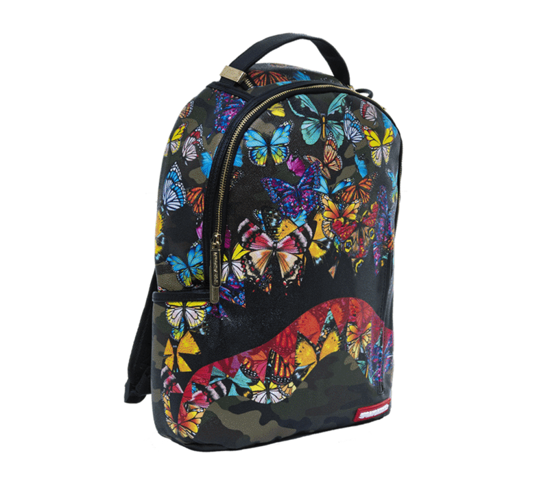 11638b3015597 Sprayground Butterfly Camo Shark Mouth Urban School Book Bag Backpack  910M1640
