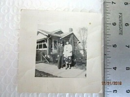"""REAL PHOTO BLACK AND WHITE- 3 1/2"""" X 3 1/2"""" -SOLDIER AND GIRLFRIIEND -A8-23 - $9.89"""