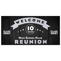 School Class Reunion Silver Party Banner Decoration Backdrop (any year) - €18,70 EUR