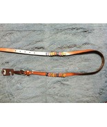 """FOSSIL WOMENS NEW TAN 100% LEATHER BELT SIZE: LARGE WIDTH:3/4"""" LENGTH:44"""" - $45.82"""