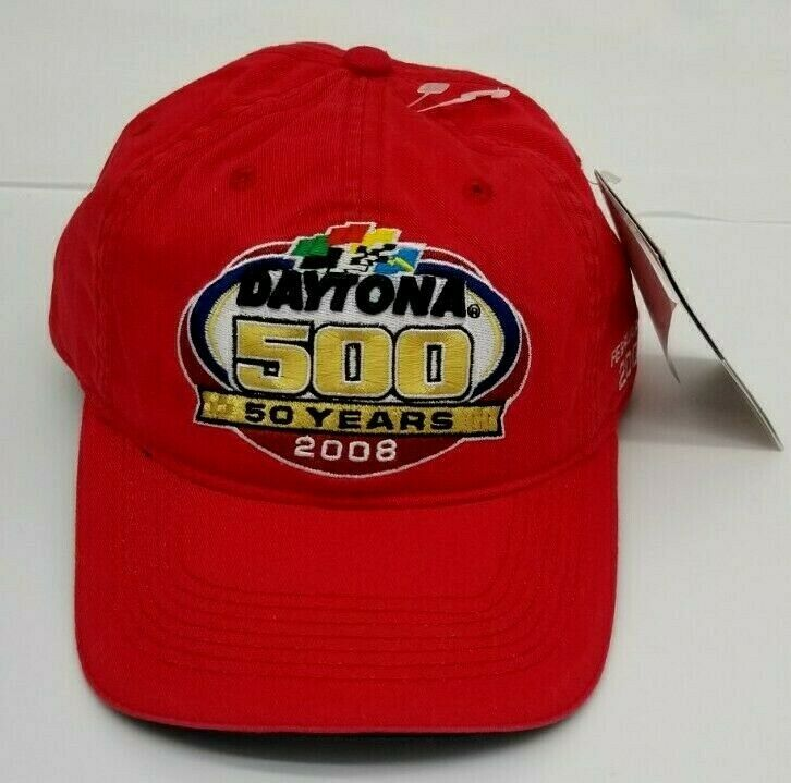Primary image for Daytona 500 50 Yrs 2008 Red Cap Hat Nascar Chase Authentics Adjustable Snapback