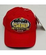 Daytona 500 50 Yrs 2008 Red Cap Hat Nascar Chase Authentics Adjustable S... - $17.77