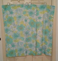 Vintage Wondercale by Springmaid Blue Green Floral Set of 2 Pillowcases - $14.00