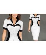 Women's Business Dresses Work Wear short sleeve Pencil Casual Office Dress - $34.99