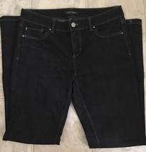 White House Black Market Women's Blanc Bootcut Jeans Size 6S Stretch Black - $22.43