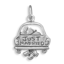Just Married Sterling Silver Charm - $26.98