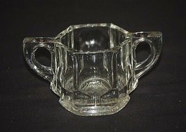 Old Vintage Heavy Clear Glass Open Sugar Bowl Starburst Bottom MCM Glass... - $14.84
